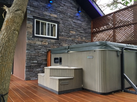 Enjoy a hot tub under the stars. Great for relaxing in after those powder filled days at Fernie ski hill, or after a breath taking round of golf at one of the many courses in the area.