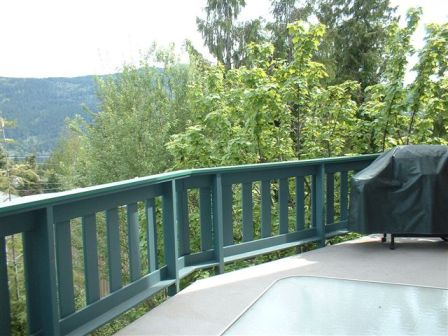 View of Shuswap Lake from deck
